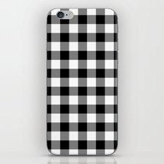 Gingham (Black/White) iPhone & iPod Skin