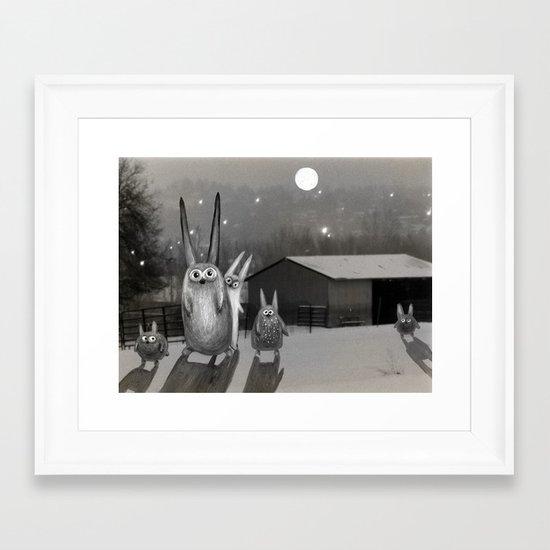 Night Scene Framed Art Print