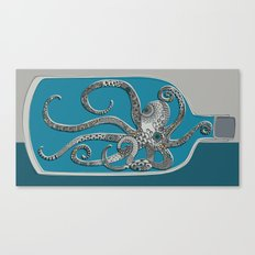 Octopus in a Bottle Canvas Print
