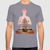 Tall ship Gloria Mens Fitted Tee Slate SMALL