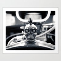 Gritty Skull Art Print