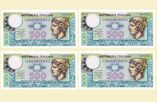 500 lire money note  Art Print