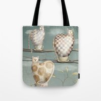 Cats in Cups Tote Bag