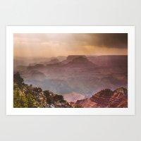 Grand Canyon Rainfall - … Art Print