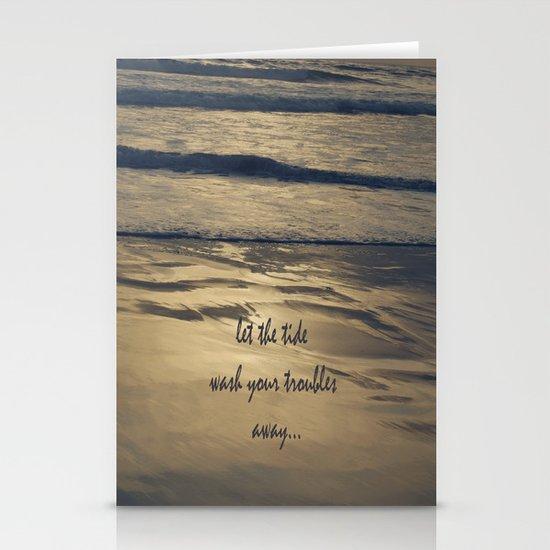 Golden Tide Stationery Card