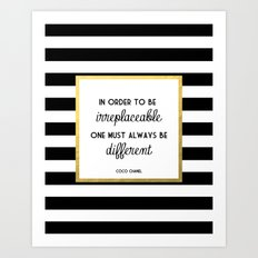 Coco Gold Irreplaceable … Art Print