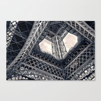 Eiffel Steel Canvas Print
