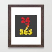 24-7/365 (Red hustle) Framed Art Print