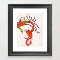 Strawberry Hair Framed Art Print