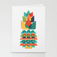 Colorful Whimsical Anana… Stationery Cards