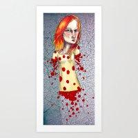 Fiery Haired Art Print