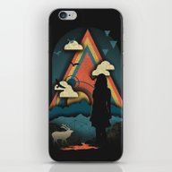 iPhone & iPod Skin featuring New Worlds by The Child