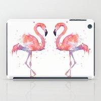 Flamingo Watercolor  iPad Case