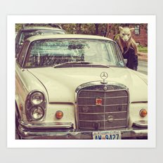 Mercedes Sheep Art Print