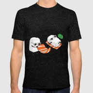 Sushi-sun Mens Fitted Tee Tri-Black SMALL
