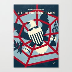 No678 My All the presidents Men minimal movie poster Canvas Print