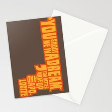 Shoot me in a dream Stationery Cards