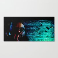 only when I loose myself Canvas Print
