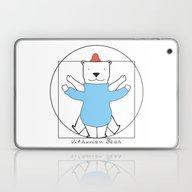 Vitruvian Bear Laptop & iPad Skin