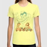 CrashBoomBang Womens Fitted Tee Lemon SMALL