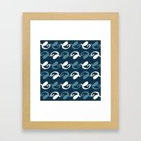 Night pattern Framed Art Print