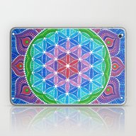 Lotus Flower Of Life Laptop & iPad Skin