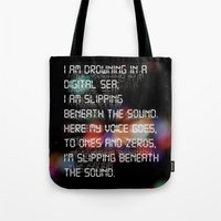 Drowning In The Digital … Tote Bag