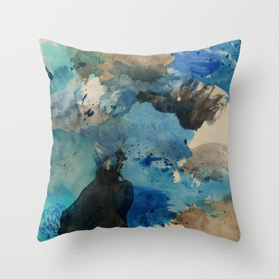 Secret Mediterranean Beach Throw Pillow