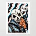 skull foolery Art Print