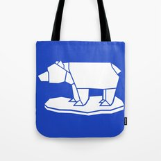Origami Polar Bear Tote Bag