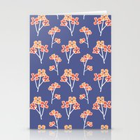 anemone flowers :: lavender Stationery Cards