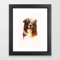One night in the forest Framed Art Print