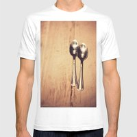 Two Spoons Mens Fitted Tee White SMALL