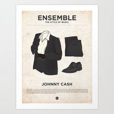 Ensemble - Johnny Cash Art Print
