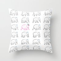 The Pink Elephant Throw Pillow