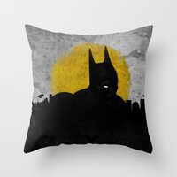 Night Of Justice Throw Pillow