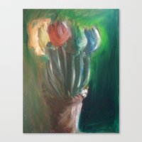 Flowers For An Angel Canvas Print