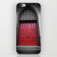 Red Door Black And White… iPhone & iPod Skin