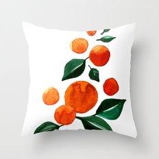 Orange Tree Throw Pillow