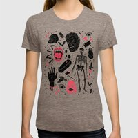Whole Lotta Horror Womens Fitted Tee Tri-Coffee SMALL