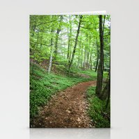 Into The Woods - Woodland Spring Path Stationery Cards