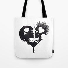 Skull Kiss Tote Bag