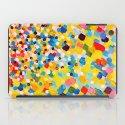 SWEPT AWAY 2 - Vibrant Colorful Rainbow Mango Yellow Waves Mermaid Splash Abstract Acrylic Painting iPad Case