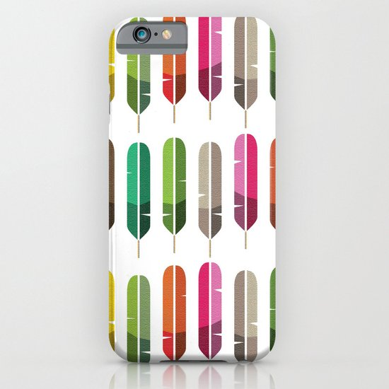 Rainbow Feathers iPhone & iPod Case