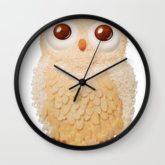 Owl Collage #5 Wall Clock
