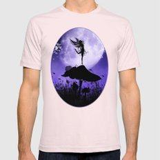 Fairy Silhouette 2 Mens Fitted Tee Light Pink SMALL