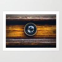 Peephole Art Print