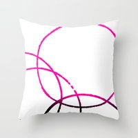Circles Overlap 2 Throw Pillow