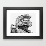 Master Chief Halo Framed Art Print