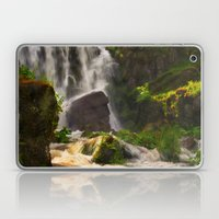 Waterfall in the fairy forest Laptop & iPad Skin